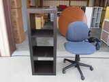 Chair and shelf lot