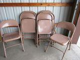 Ten pc folding chair lot