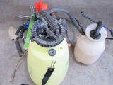 Pump sprayers and garden supplies