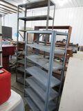 2 pc metal shelving lot