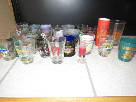 Shot glass lot