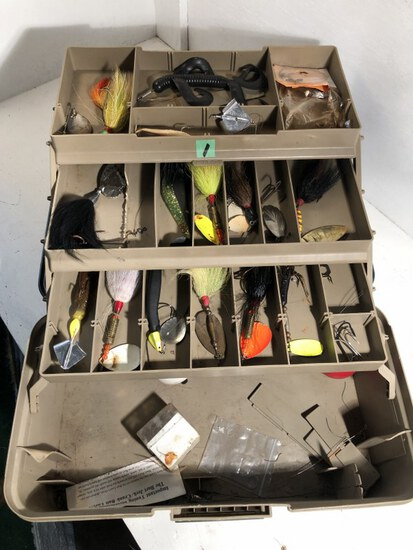 Tackle box full of fishing lures