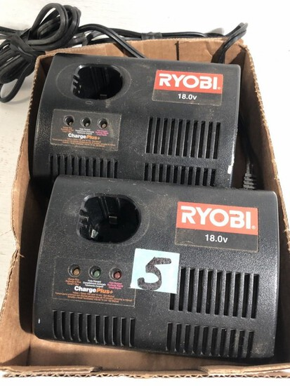 Pair of Ryobi 18V Battery Chargers