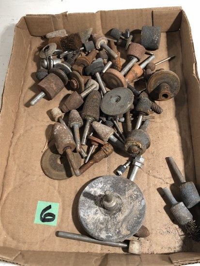 flat of grinding stone bits