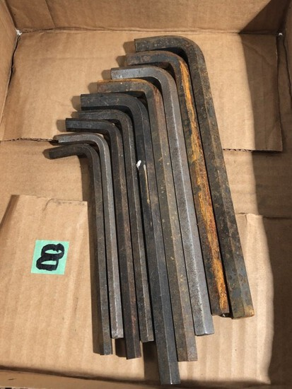 Flat of large allen wrenches