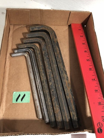 flat of allen wrenches