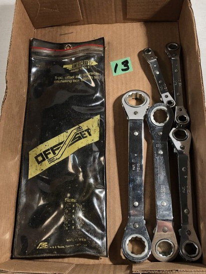 Flat of Off-Set Wrenches