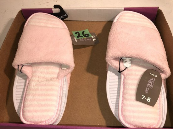 2 Pair Bedoom Slippers Size 7/8 NWTags