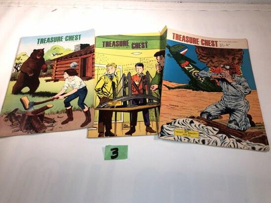 3 Treasure chest comics