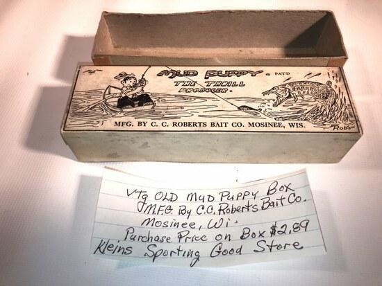 Vtg Mudpuppy Bait Box see picture