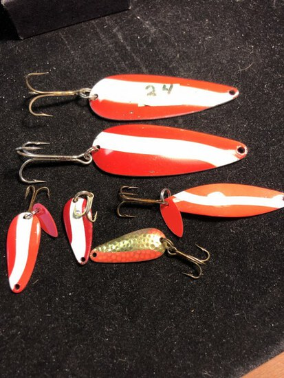 Large & small spoons fishing lures
