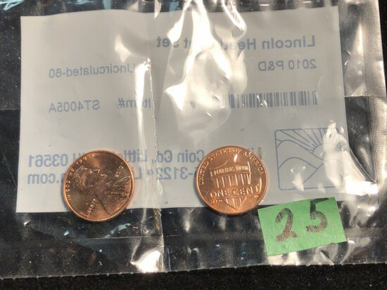 2010 Uncirculated penny