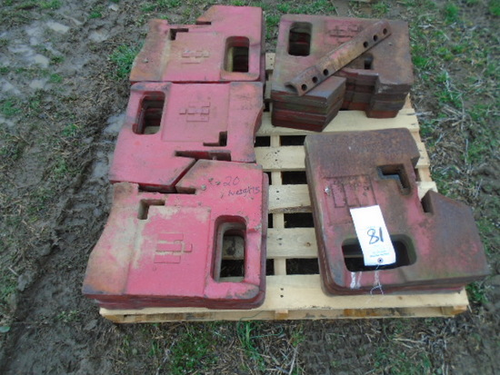 20 IH SUITCASE WEIGHTS SOLD BY THE PIECE