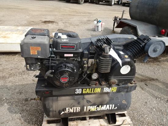 C.M 30 GALLON  180 PSI PORTABLE GAS ENGINE AIR COMPRESSOR