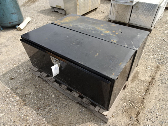 2 METAL SIDE MOUNT TOOL BOXES