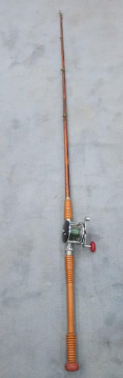 Vintage Sport King Wood Deep Sea Fishing Rod And Penn Reel Estate