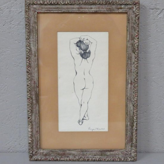 Standing nude by K Qualius