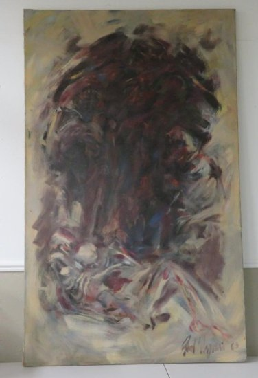 Large Abstract painting signed and dated 1963