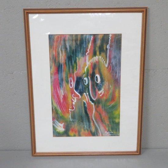 "Sylvia Spicuzza ""Mischief Makers"" opaque watercolor painting"