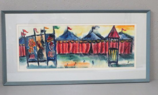 Circus Watercolor by Eugene Olson