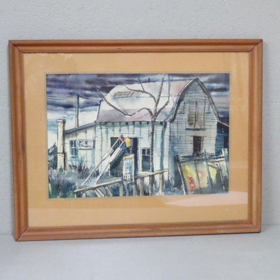 Wayne Gratton watercolor Gills Rock