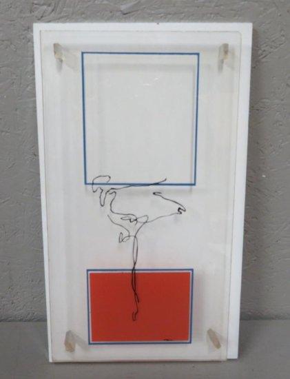 Robert Uyvari acrylic 1973
