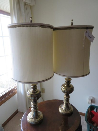 Two Ornate table lamps