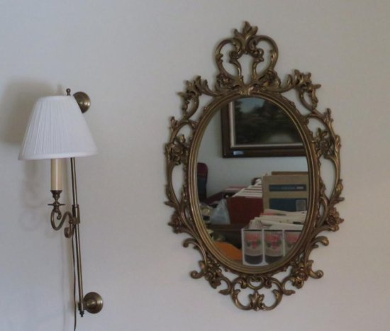 Mirror and sconce