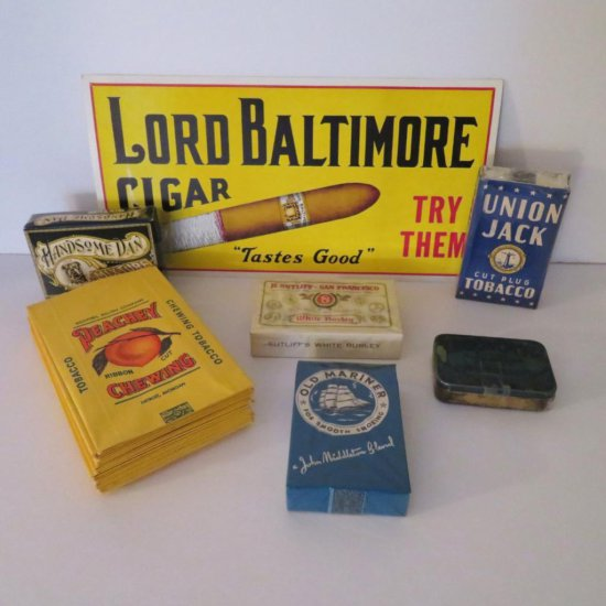 Cigar and Tobacco Advertising items, OLD STOCK