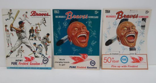 1962-1963-1964 Milwaukee Braves Scorecards