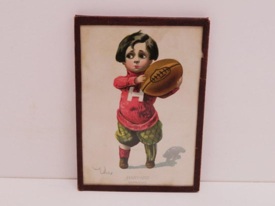 1907 Framed Harvard Footballing picture College Kids #594