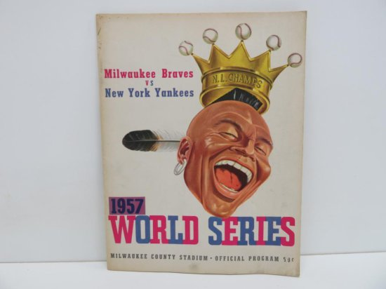 Milwaukee Braves vs New York Yankees 1957 World Series Program