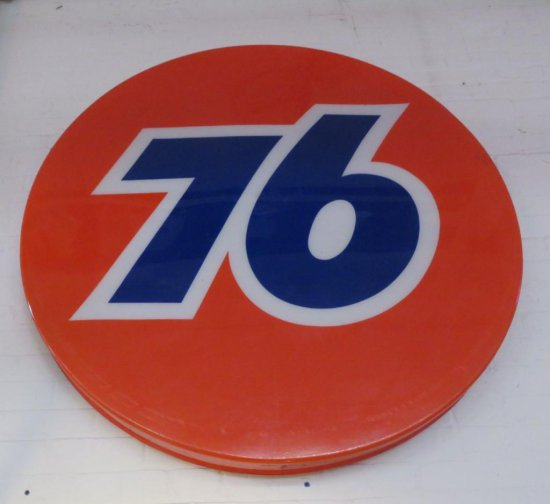 Large 76 plastic disc sign