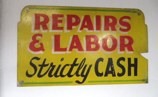 Wooden Repairs and Labor Sign