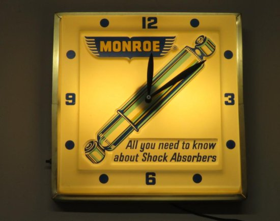 Monroe lighted clock, shock absorbers