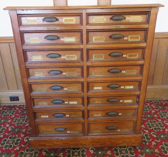 Spectacular Oak typeset cabinet
