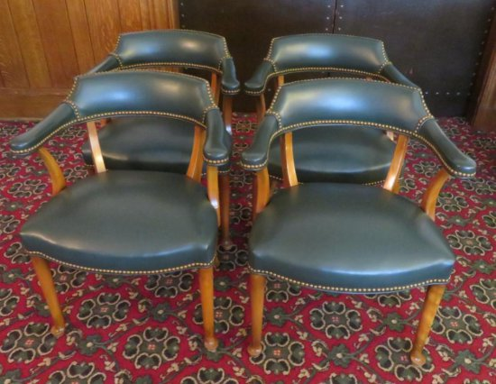 Four Very Nice leather chairs