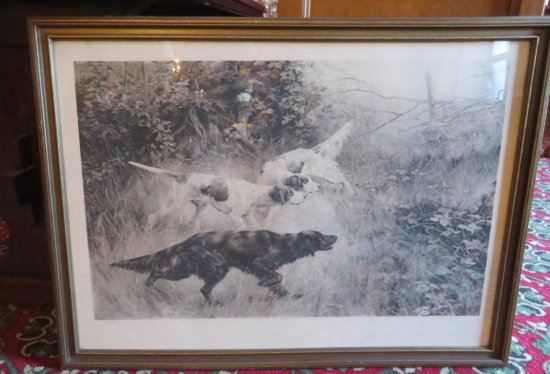 """""""Steady"""" Hunting Dog Engraving"""
