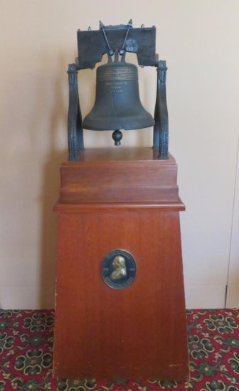 Liberty Bell Statue on Stand
