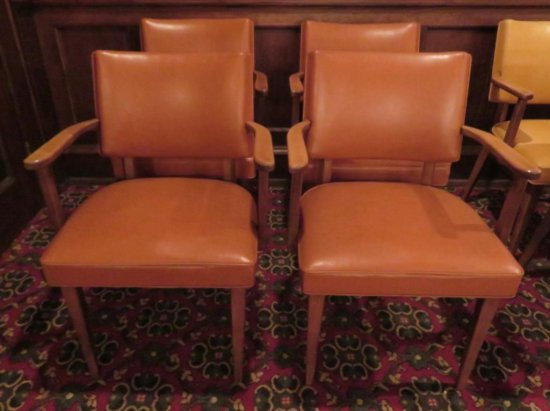 Four Mid Century Modern Thonet Arm Chairs