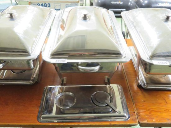 Stainless Steel Chafing dish in frame with lid