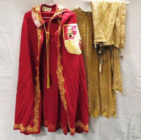 3 pc- Cloak, tunic and leggings, Medieval Renaissance Regalia