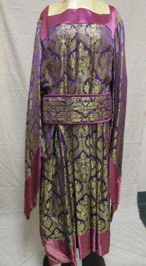 Two piece satin brocade costume