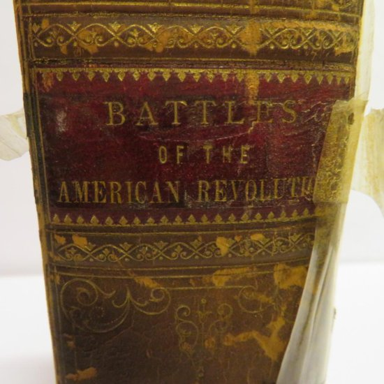 Leather bound Battles of American Revolution by Henry Carrington, author signed