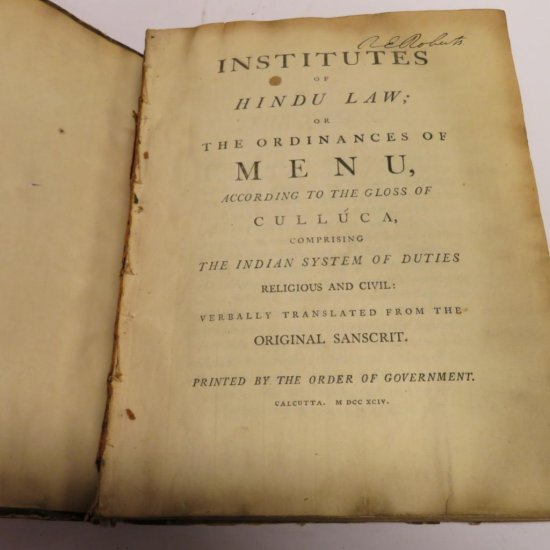 1794 Institute of Hindu Law