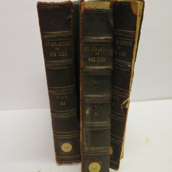 1888 Art and Artist of Our Time, Vol 1-3, Clarence Cook
