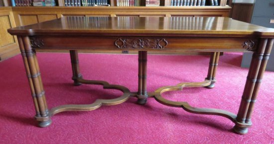 Lovely Ornate William A French Library Table