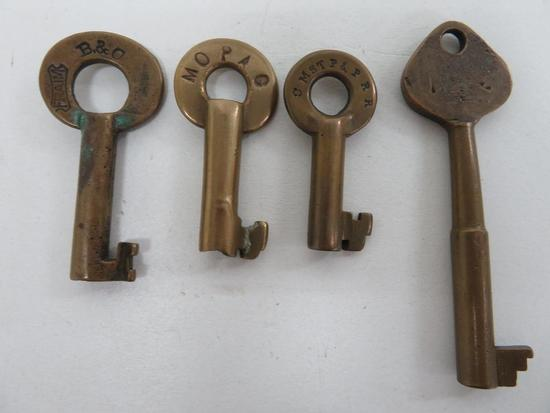 Four Railroad Keys
