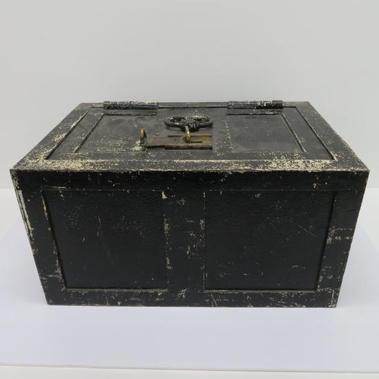 Early Metal Strong Box with brass key