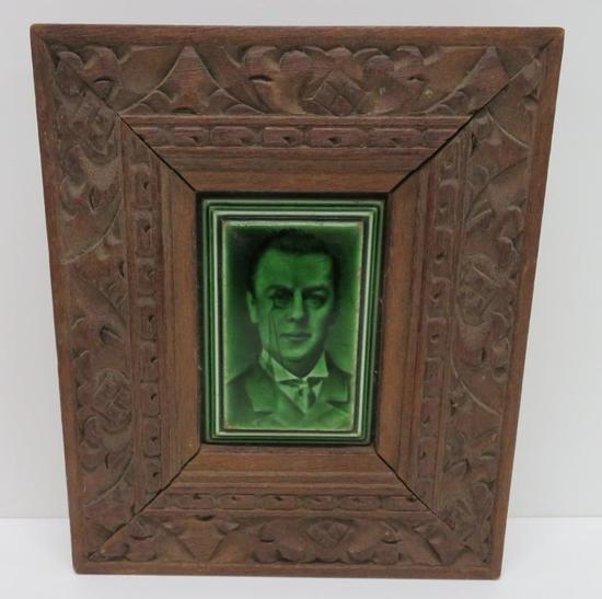 Framed Portrait Tile, Craven Dunnill Co London